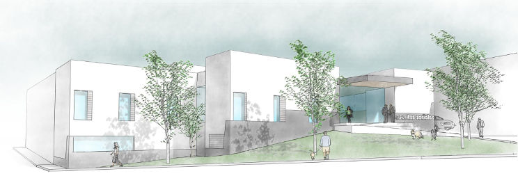 social building drawing goarquitecto