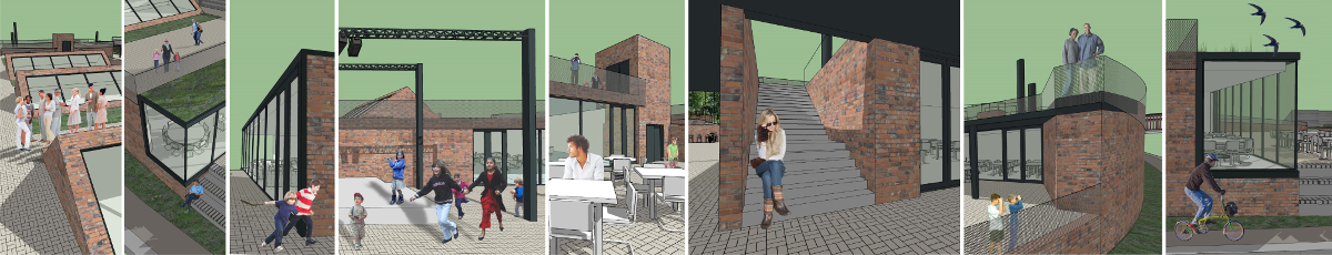 soar island leicester collage goarquitecto